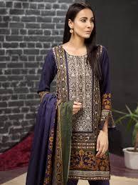 Pakistan Designer Framed Fantasy Suit Khaddar Pakistani Designer Clothes