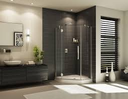 Contemporary Frameless Glass Corner Shower Design Innovate
