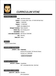 modelo curriculum modelo de curriculum vitae para preencher artesanatos como fazer