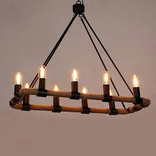 hemp rope pendant lighting lamp lights wrought iron retro american country cafe lamps and lanterns plhr14