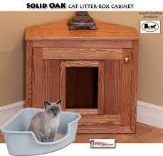 litter box furniture cat enclosed covered. Corner Cat Litter-Box Cabinet...has Swinging Door To Keep Dog Out Litter Box Furniture Enclosed Covered N
