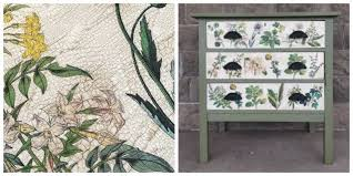 floral decoupage furniture. Floral Inspired Decoupaged Image Transfer Dresser, Decoupage, How To, Painted Furniture Decoupage I