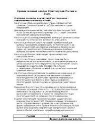 Сравнительный анализ конституций России и США реферат по  Сравнительный анализ конституций России и США реферат по политологии скачать бесплатно государственная дума совет федерации Палата