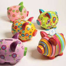 Sweet Piggy Banks by Two's Company