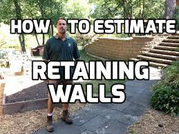 how to do retaining wall bids estimates and proposals