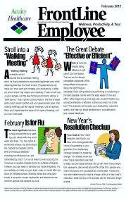 Wellness Newsletter Templates Internal Newsletter Template