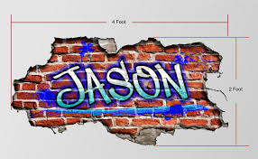 custom graffiti name personalized brick