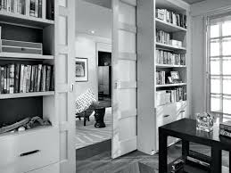 black and white home office. Black White Office Design Desk Furniture Charming Home With Glossy Wooden Pocket Doors . And T
