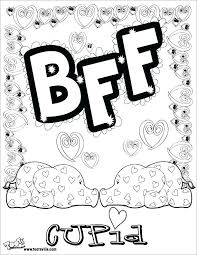 Heart Coloring Pages For Girls Color Page Cute Little Girl And