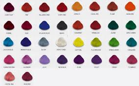 Bright Hair Color Chart Directions Hair Colour Shade Chart Lajoshrich Com