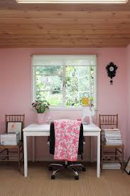 pink home office. pink home office study apartment therapy o