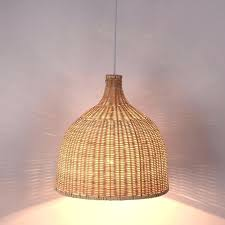 large pendant lights bamboo wicker shade pendant lights fixture rustic style tatami hanging lamp re dining