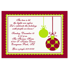 Christmas Party Invitations Christmas Ornaments Design Printed With Envelopes Included