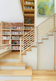 Accessories: Wooden Block Stairs With Bookshelves Storage - Bookshelves  Ideas
