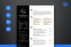 Modern Design Resume The Best CV Resume Templates 24 Examples Design Shack 1