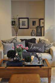 decor ideas for living room magnificent design brown rectangle wooden coffee table shabby white fabric sofa