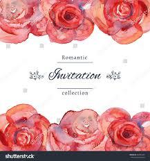 Romantic Date Invitation Template Vector Illustration Save Date Wedding Invitation Stock Vector