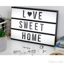 cinema lightbox with a4 cinema light box black letters signs card for night lamp diy lights led grow led headlight from adeals 18 26 dhgate com
