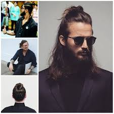 Gorgeous Men Bun Hairstyle Haircuts And Hair Colors Short Messy
