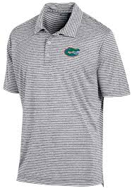 florida gators mens grey stadium stripe synthetic polo shirt by champion view all florida gators apparel