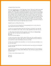 30 day notice to landlord form day notice letter to landlord sample moving out move apartment 5