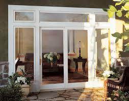 the integrity wood ultrex sliding french door keeps the elements on the outside and provides the warmth of wood on the inside
