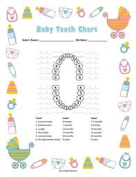 Free Printable Baby Boy Tooth Chart Tooth Chart Baby