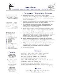personal chef resume