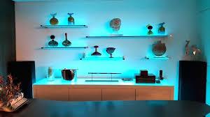 floating shelves with lighting floating glass shelves with led light