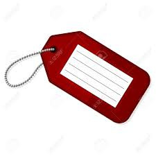Red Luggage Tag With Copy Space Over White Background Royalty Free ...