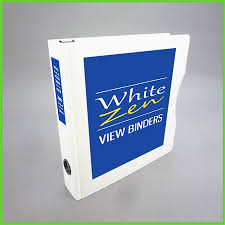 1 5 Binder 1 5 White Zen View Binder 8 5 X 11 Letter Size