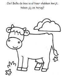Vlekken Tekenen Koe Thema Dierendag Farm Animals Farm Animal
