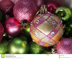 Pink And Green Christmas Ornaments