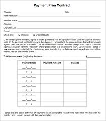 Payment Plan Template Payment Plan Template Madinbelgrade