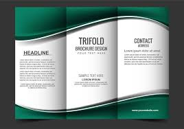 tri fold brochures free vector modern tri fold brochure download free vector art