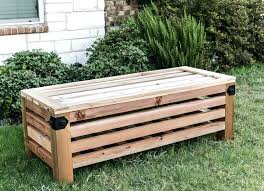 outdoor wood storage bench free patio storage bench plans deck storage bench plans storage outdoor bench