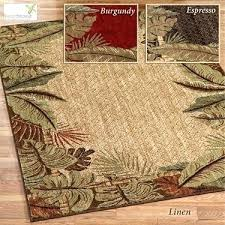 pet friendly area rugs tropical leaf durable