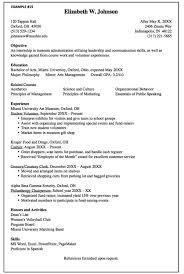 Museum Administration Resume Sample Http Exampleresumecv Org