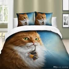 3D Cute <b>Cat Printing</b> Bedding Sets With Pillowcases Set <b>Queen</b> ...