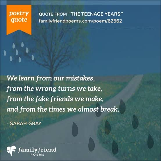 poems about life struggles for teenagers