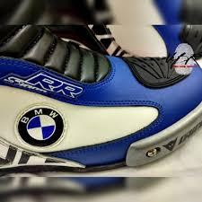 Unbeatenracers B Series Bmw Motorrad Leather Boots Blue