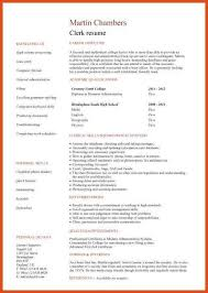 Gallery Of High School Student Resume Template No Experience