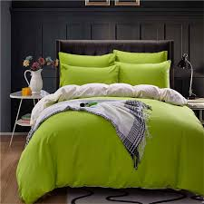 solid colour simple life bedding set polyester duvet cover flat sheet pillowcase comforter bed set twin full queen king size in bedding sets from home