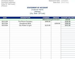account statement templates statement of account template threeroses us