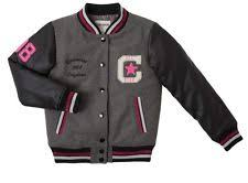 converse varsity jacket. converse faux leather sleeve letterman jacket gray pink girls size 5 new converse varsity jacket