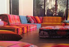 Low Seating Furniture Living Room A Colorful Living Room Cool Low Seating Arrangements Pinterest