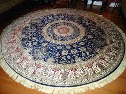 silk rugs 8 round navy rug circle floor carpet ft wool 8x10