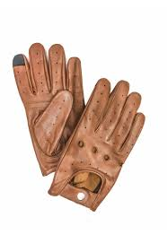 leather driving gloves men tan