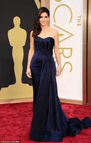 stunning she turned up the glam factor in a navy blue alexander mcqueen gown at
