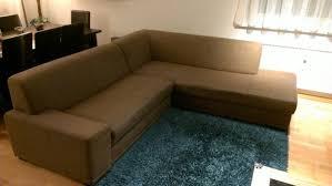 Wohnlandschaft L Form Couch Sofa Stoff Braun